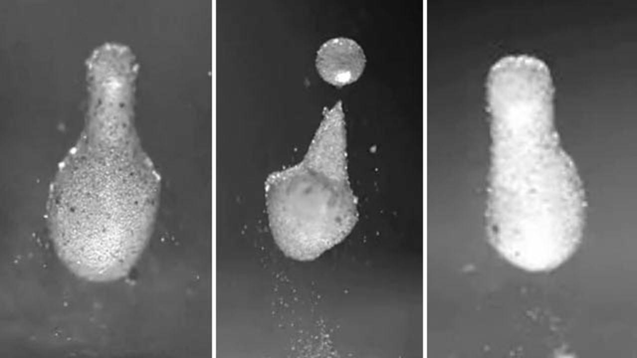 落ちてきた水滴を一瞬で凍らせる不思議な粉(動画あり)
