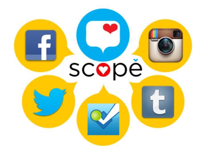 スッキリ使えてスゴイ! 5つのSNSを横断的に使えるAndroidアプリ「スコープ(scope)」