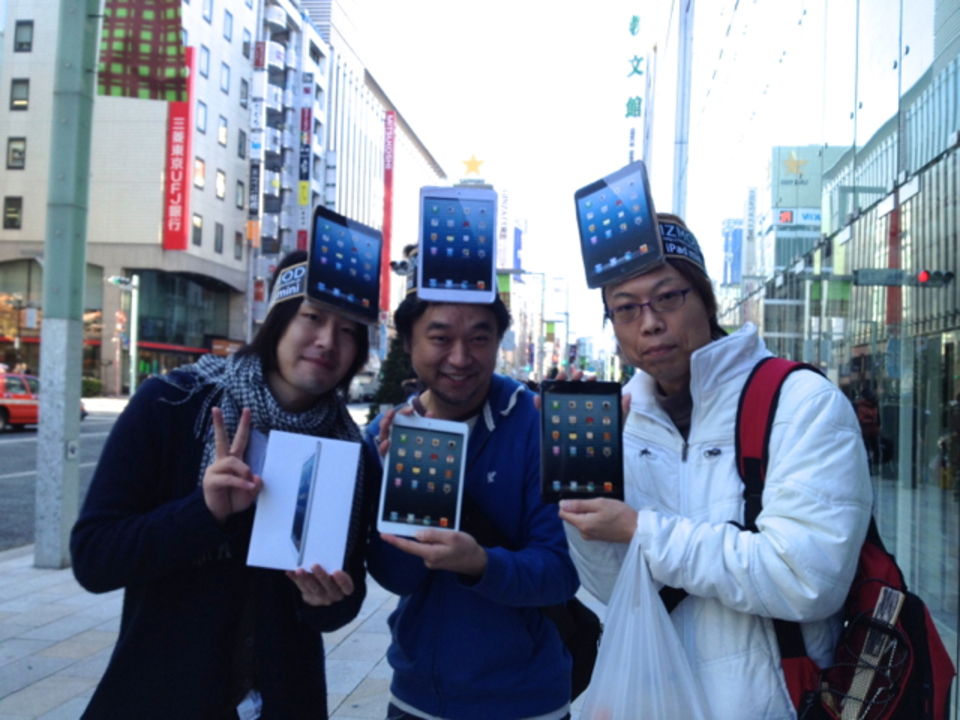 【 #iPadmini 】買ったよ! iPad mini購入レポート in アップルストア銀座(10:25更新)