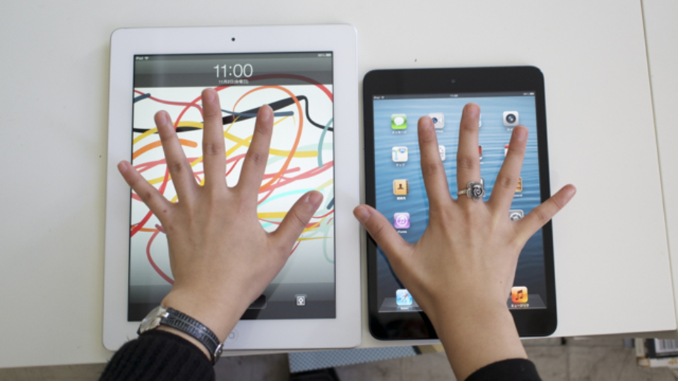 【 #iPadmini 】miniはぴったりサイズ。iPad miniのサイズの話