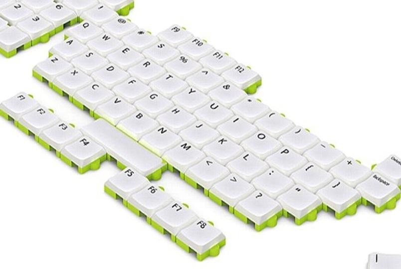 使わないキーは外してしまえばいいのだ! パズルのようにカスタマイズできるキーボード