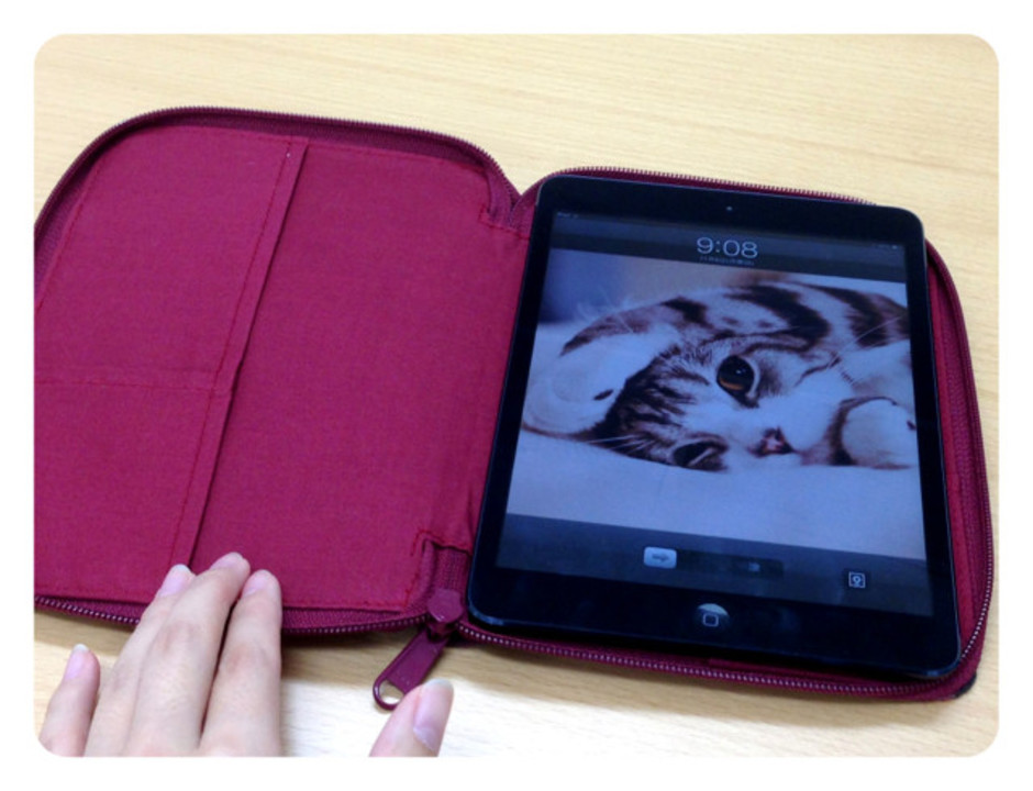 iPad miniには無印良品のノートケースがよく似合う