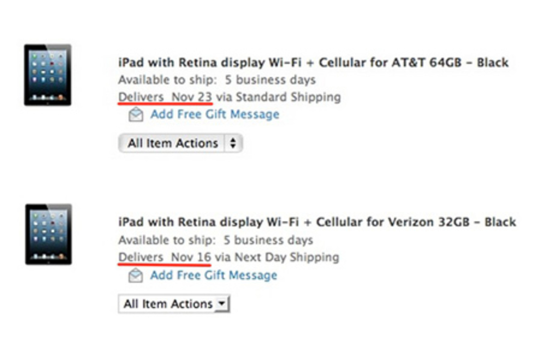 【噂】iPad mini Cellularモデル、アメリカでは11月16日発売か?