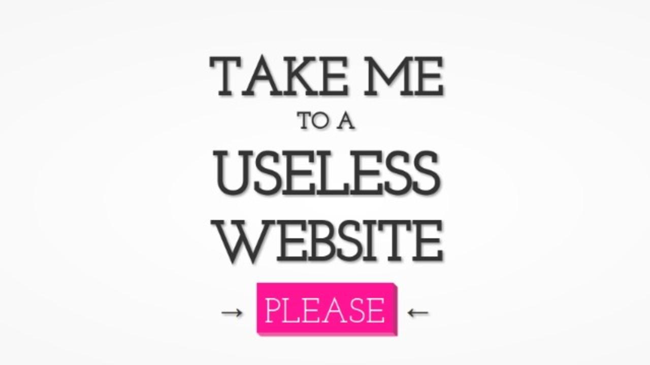 無駄なことなんて無い? 役に立たないサイトばかりを集めた「The Useless Web」