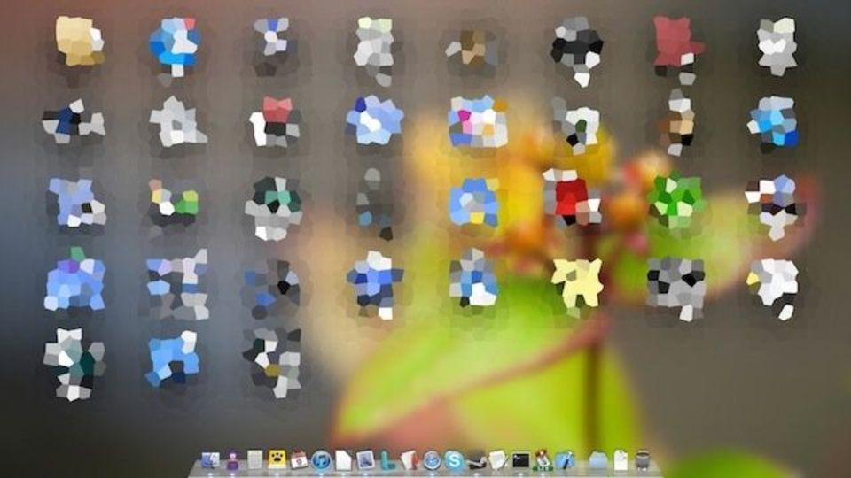永遠の輝き? OS Xの画面がクリスタルみたいに変身するバグ