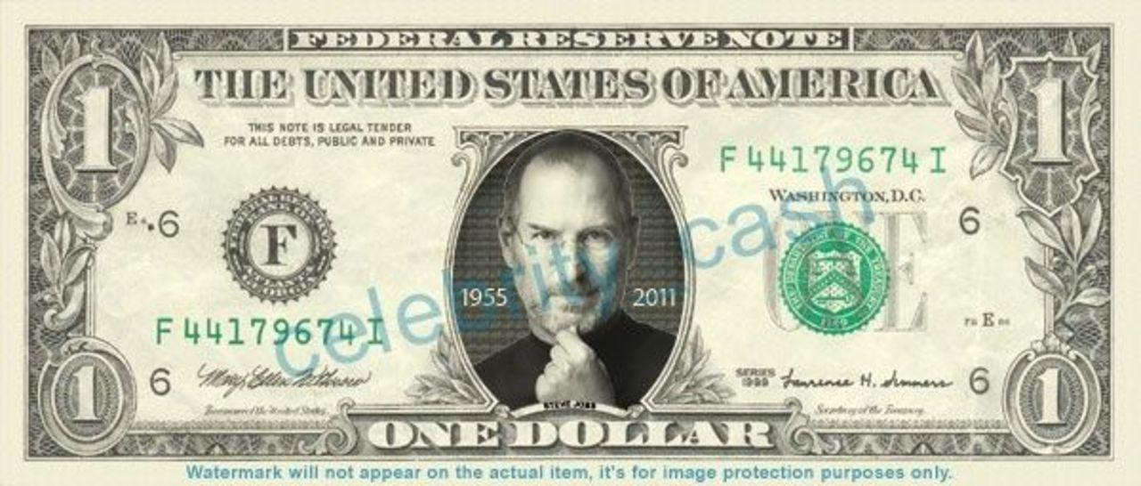 ジョブズの肖像入り1ドル札が発売。もちろん実際に使えます!