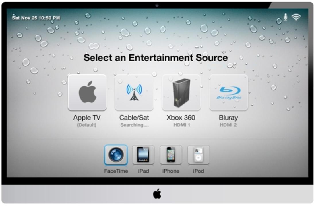 アップルの「iTV」はこんなイメージ。テストも着々と進んでいる模様