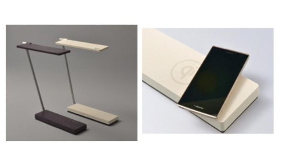 世界初の「Qi」充電機能搭載LEDデスクライト