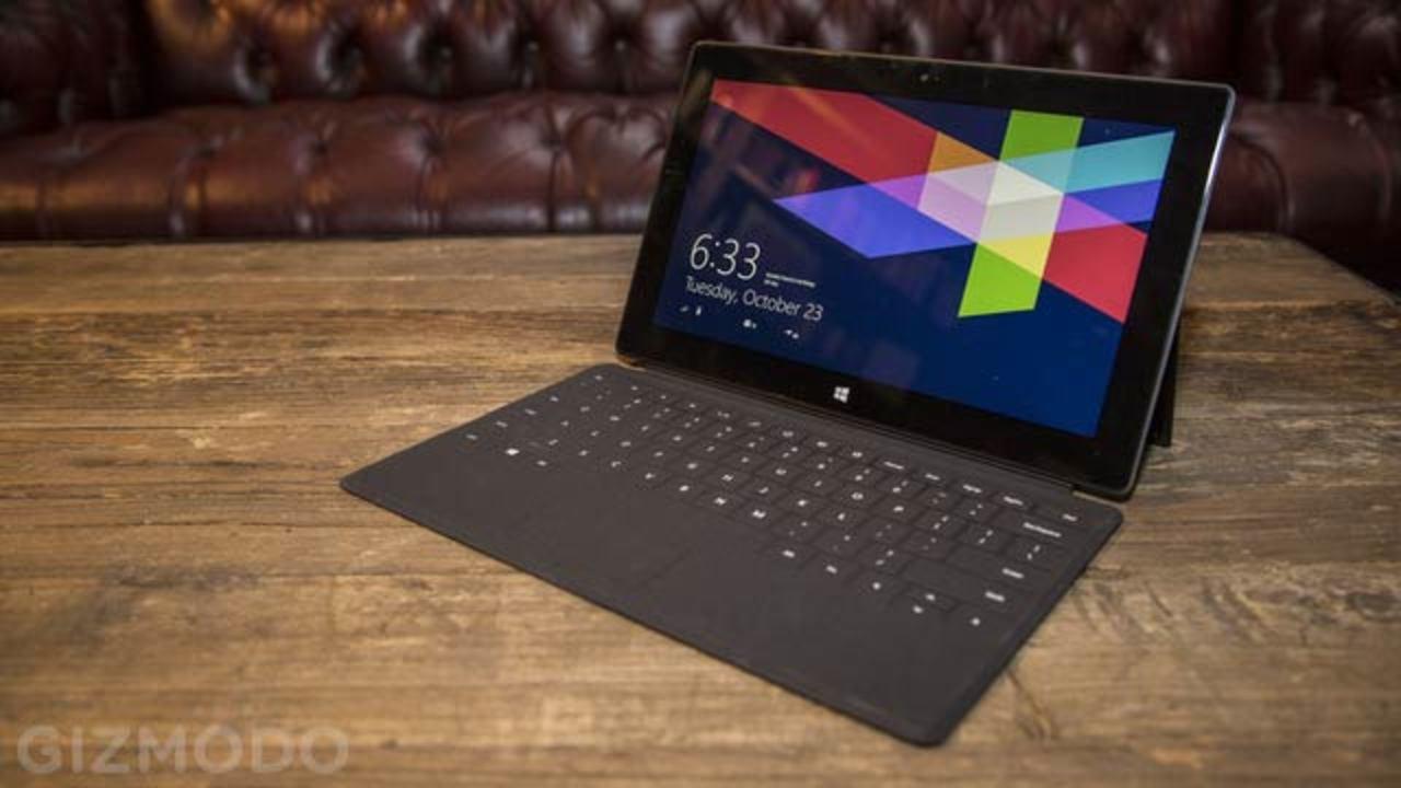 Surface 32GBモデル、容量の半分はWindows RTで埋まる