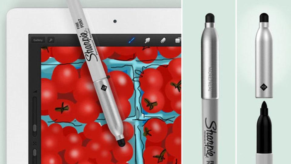 普通のペンがそのままタッチスクリーンで使えるペンタブ風キャップ
