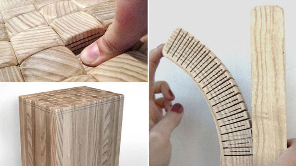触ってびっくり! 木製なのにフワッフワなスツール