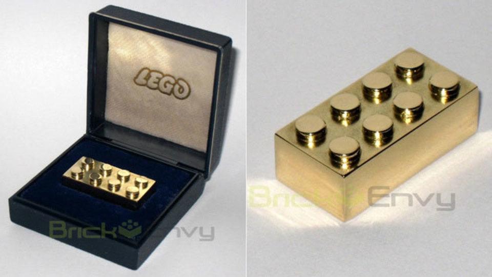 世界で最も高価なレゴブロックは純金、お値段は約120万円也