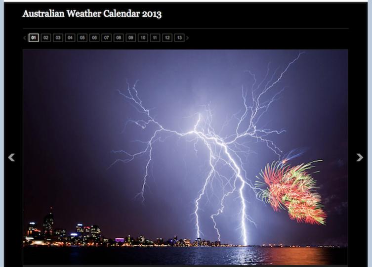 オーストラリア気象局が選んだ2013年のカレンダー写真がすごく雄大