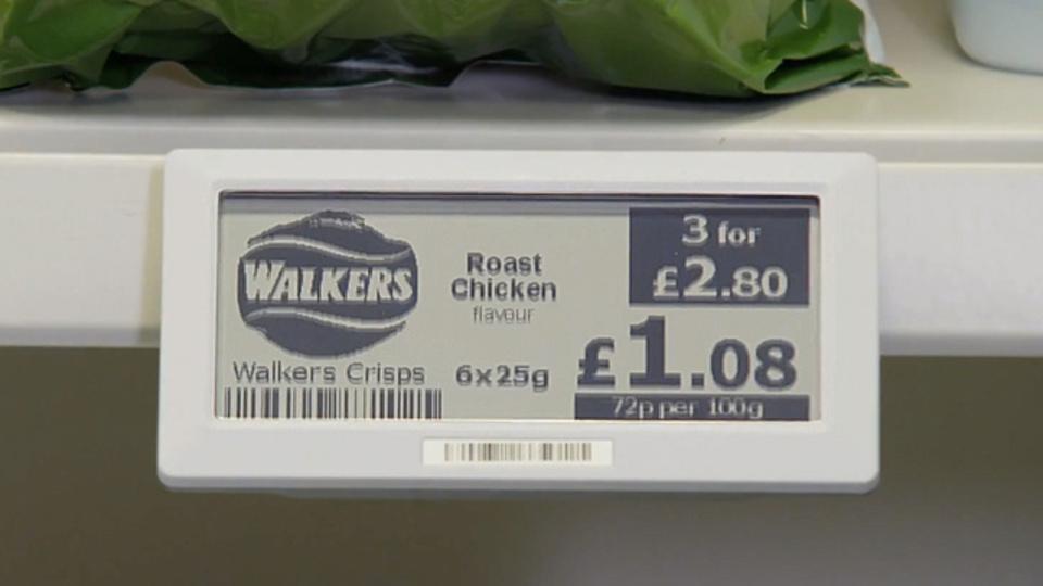 スーパーの未来形? 最新価格が自動アップデートされる商品ラベル(動画あり)