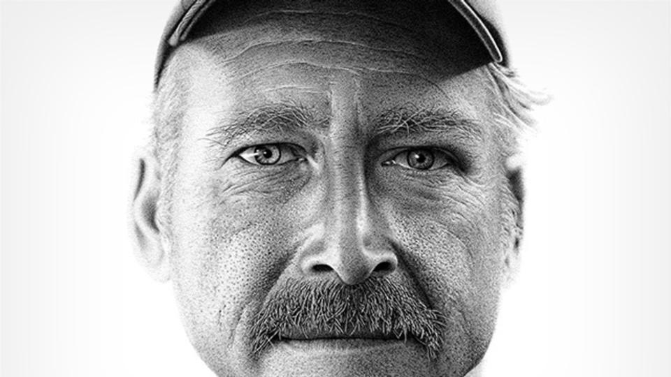 その男、解離性健忘...2100万ドットの点描で描かれた顔(動画あり)