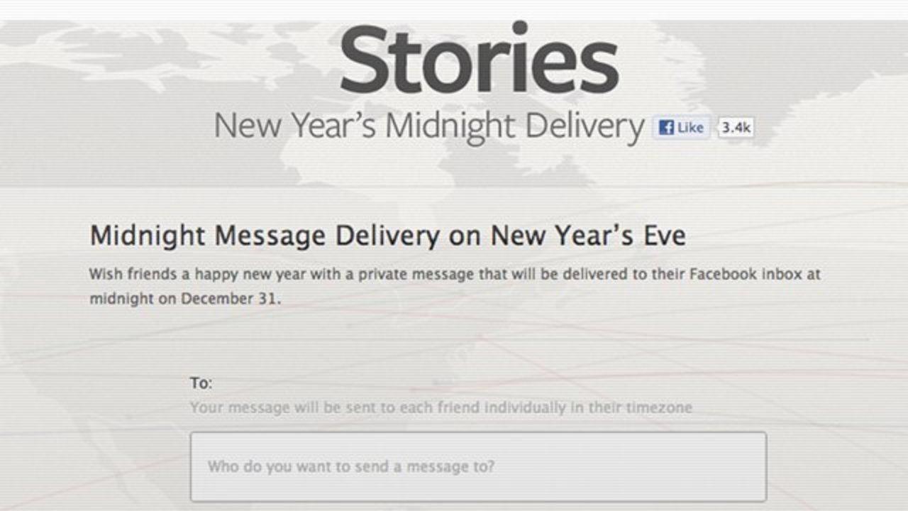 Facebookの友達に今すぐ年賀メッセージを送れる「Midnight Message Delivery」