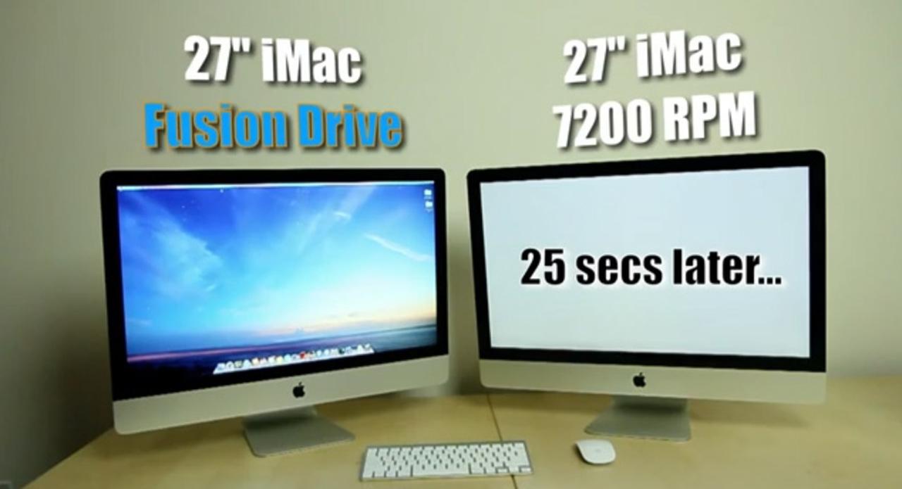 あまりにも違いすぎる! Fusion DriveとHDDの速度テスト動画