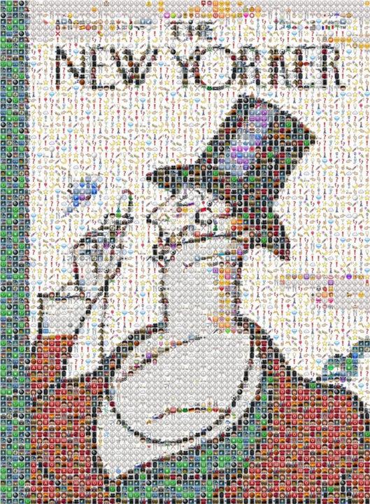 絵文字のみで描かれたザ・ニューヨーカー誌の表紙