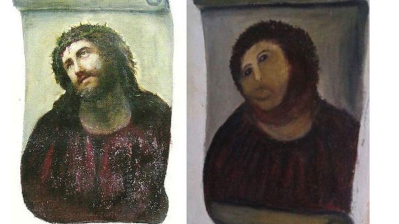 スペインフレスコ画修復のあのアーティスト、本気の作品がオークションに
