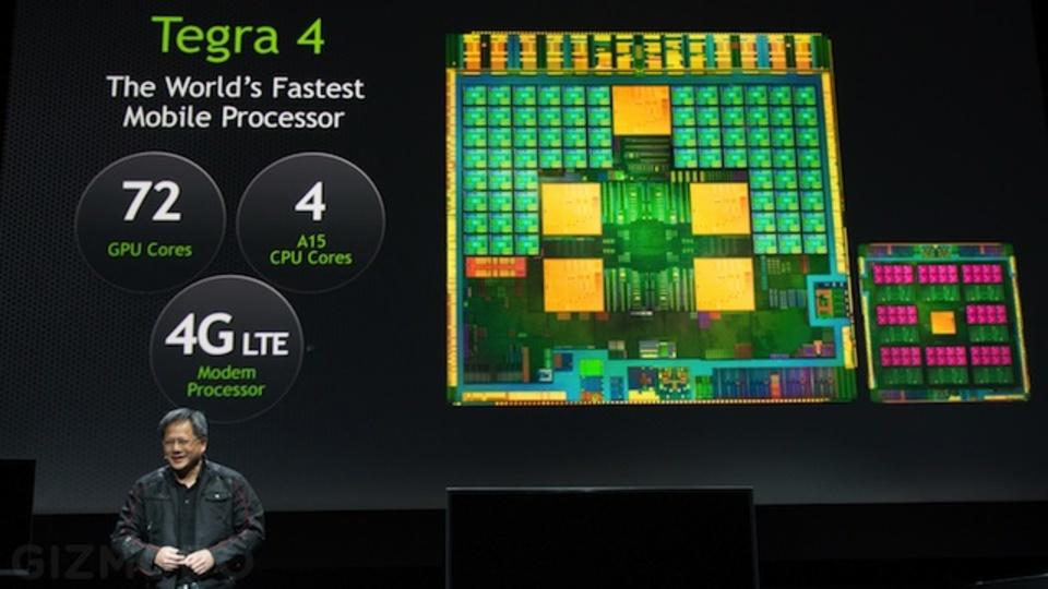 [ #CES2013 ]NVIDIA、クアッドコアCPUと72コアのGPUを搭載する世界最速モバイルプロセッサ「Tegra 4」を正式発表