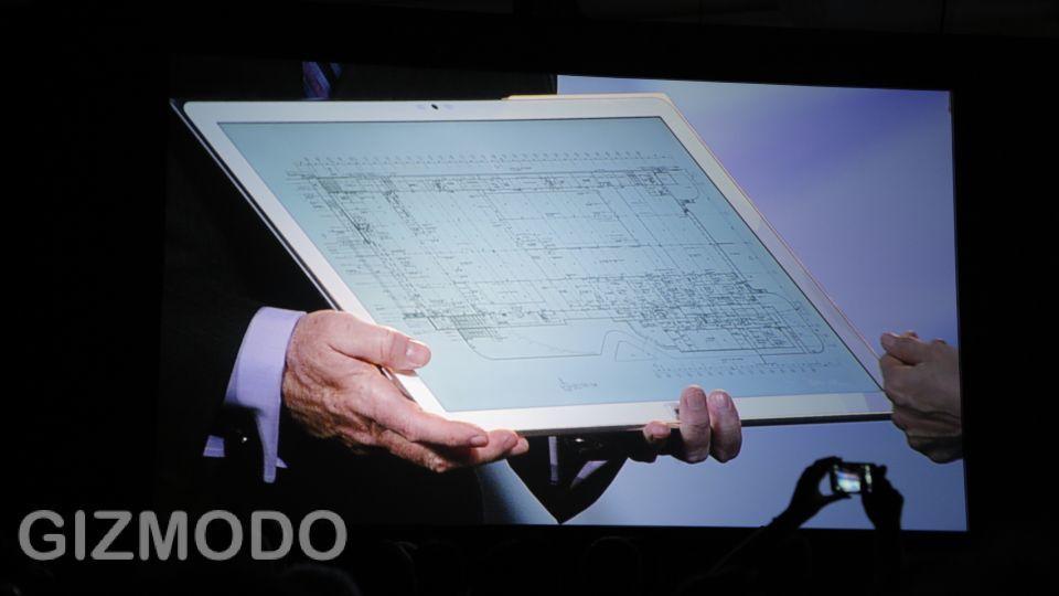 [ #CES2013 ]比較するにもはばかられるサイズ!パナソニックの「20インチ4K」タブレットに触ってみた(動画あり)