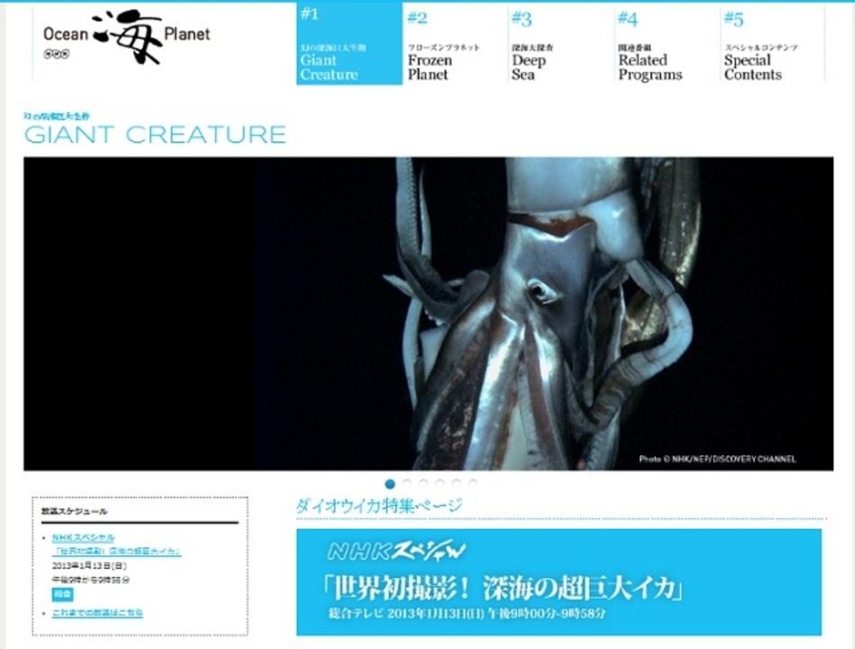世界初! 深海で泳ぐ18メートルもある謎の巨大イカを撮影成功。NHKで番組あるよ