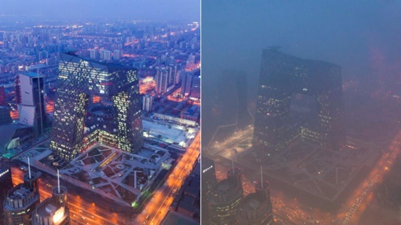 北京で過去最悪のスモッグ、米大使館屋上の計器が振り切れる