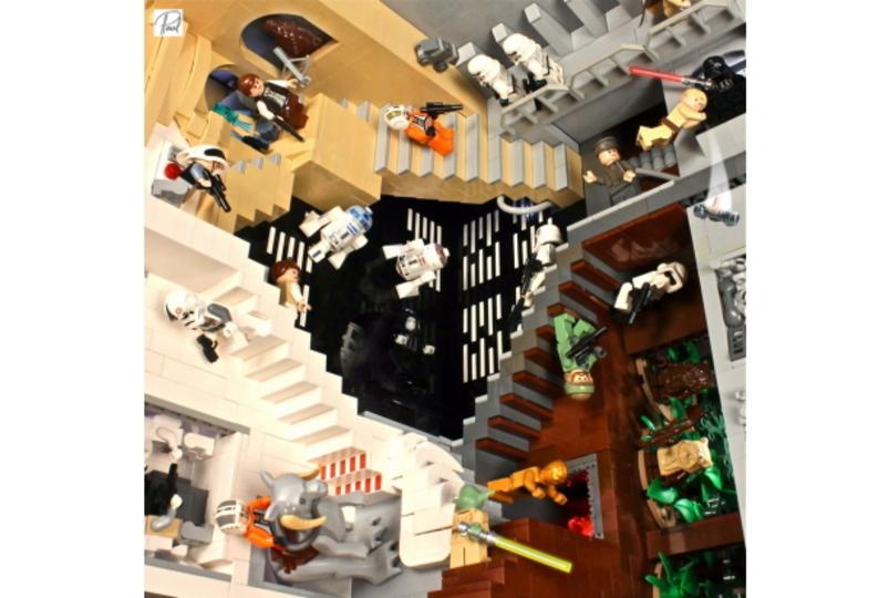 スターウォーズがエッシャーの世界にレゴで乗り込んだ
