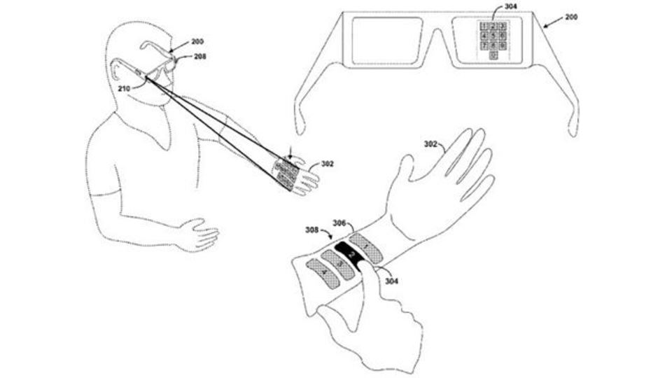 Googleメガネのキーボードはレーザービームとか? 仮想入力技術を特許申請