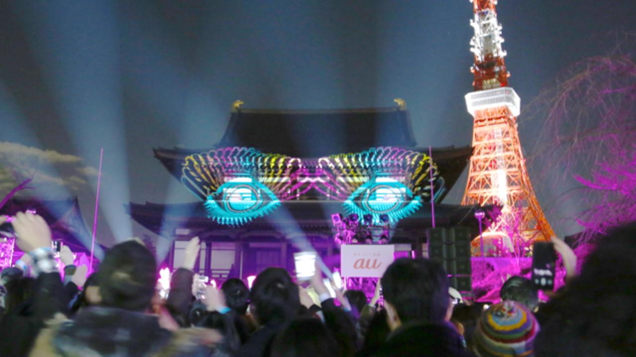 ド派手マッピングもきゃりーさんとシンクロ! スマホ超参加型イベント「FULL CONTROL TOKYO」レポート