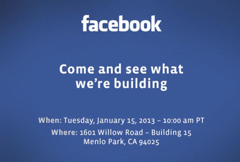Facebookがプレス向けに招待状を、来週何かが発表される! Facebook Phoneくるか?
