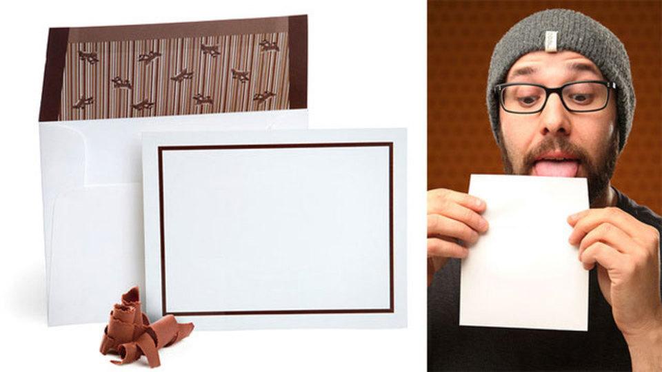 もうすぐバレンタイン チョコ味の封筒にカードをいれればチョコいらず