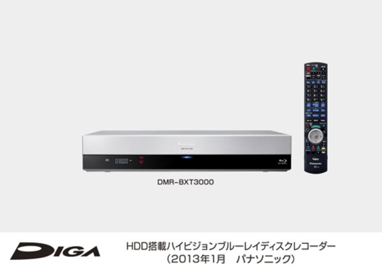 最大6チャンネルをまるごと録画できるBD/HDレコーダー「DIGA DMR-BXT3000」