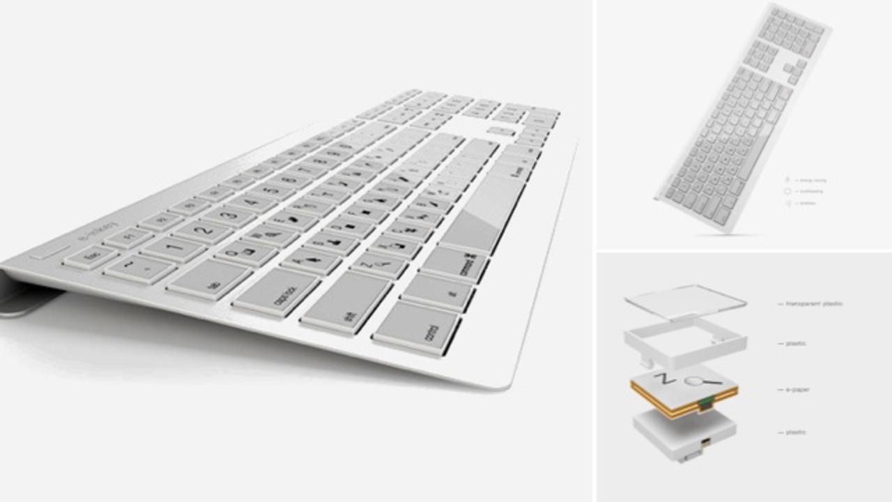 商品化に期待、e-inkキーボード