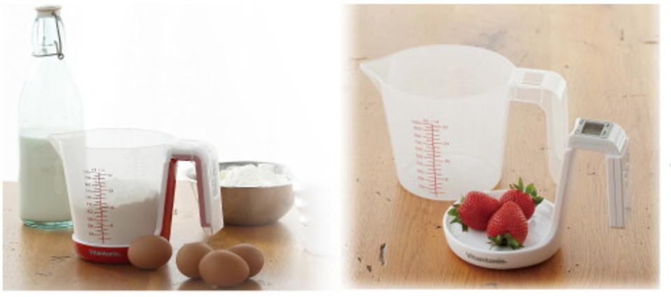 料理やお菓子作りに。量る、混ぜる、注ぐの1台3役のデジタルメジャーカップ