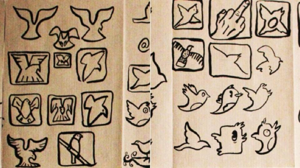 ツイッターの小鳥はどんなデザインスケッチから生まれたの?