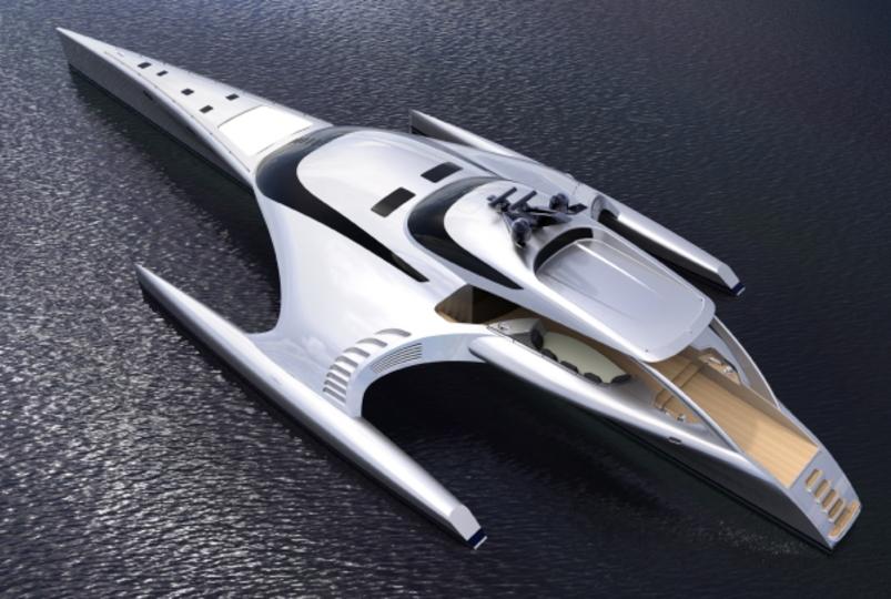 そのまま宇宙でも飛べそう。「すっげぇ!」なヨット
