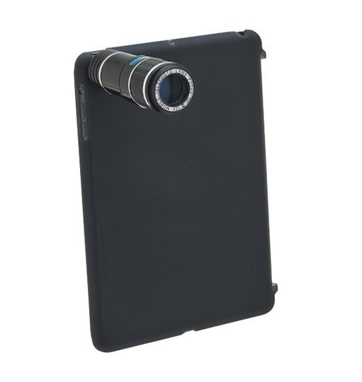 iPad miniで12倍のズーム撮影ができるレンズユニット「モバイルフォンテレスコープ for iPad mini」