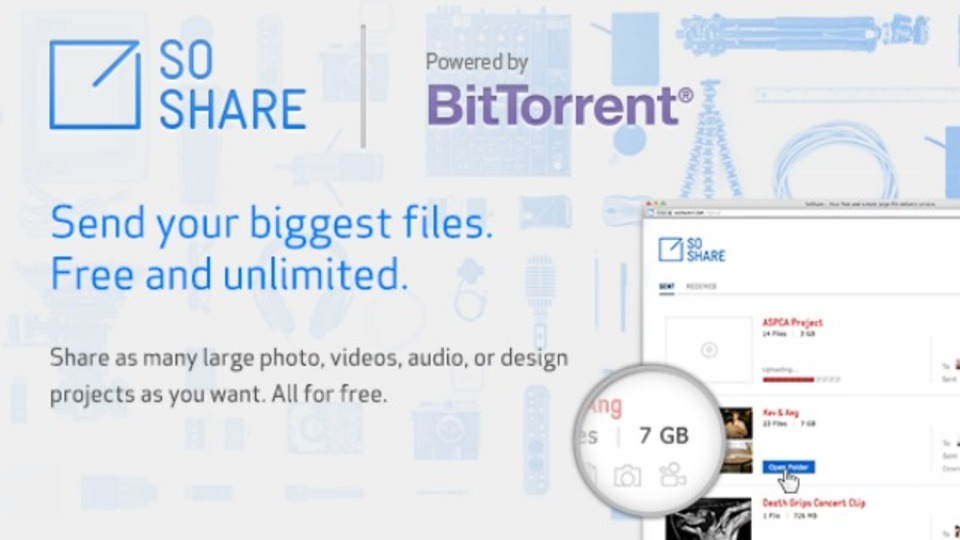 1テラバイトの巨大ファイルだってメールで送れちゃう新サービス、あのBitTorrentがアルファ版でスタート