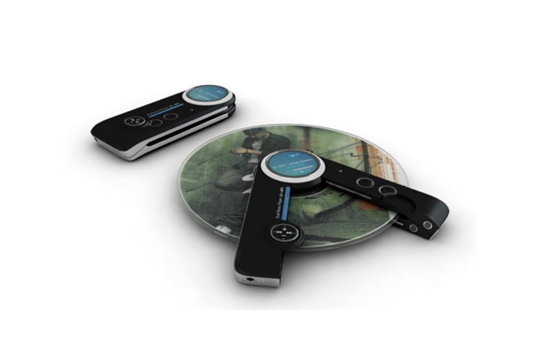 MP3プレーヤーがパカッと割れてCDプレーヤーに