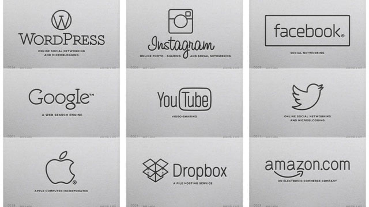 一昔前のカメラのロゴが好きだから、グーグルもアップルもAmazonも全部それ風にした(ギャラリーあり)