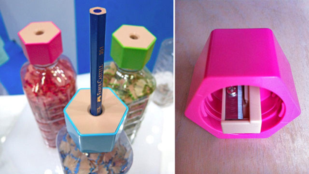 賢い! ペットボトルにつけて使えるキャップ式鉛筆削り