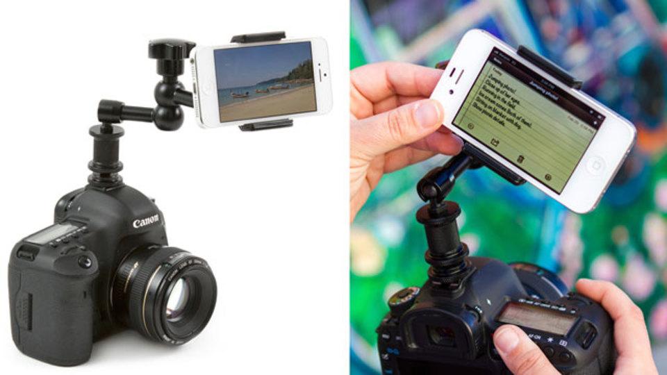 デジタル一眼レフのスマートフォン専用マウントで最強コンビがうまれる!
