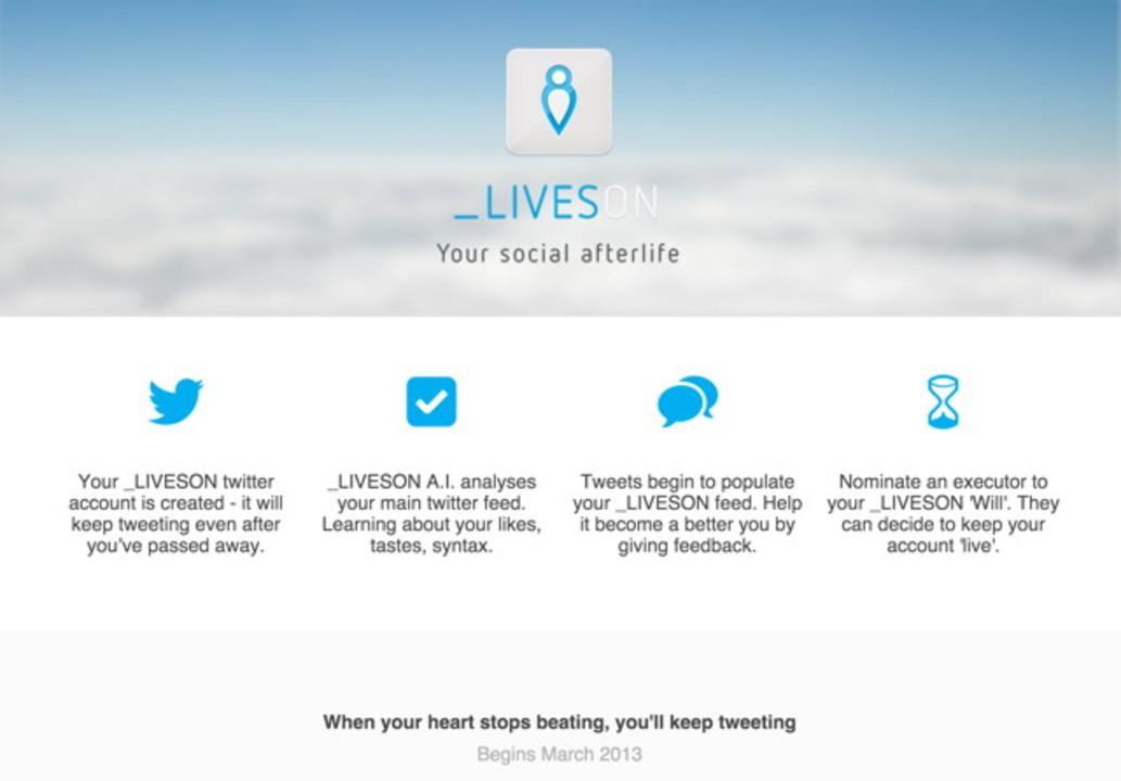 死後もせっせとつぶやいてくれるTwitterサービス「LIVESON」
