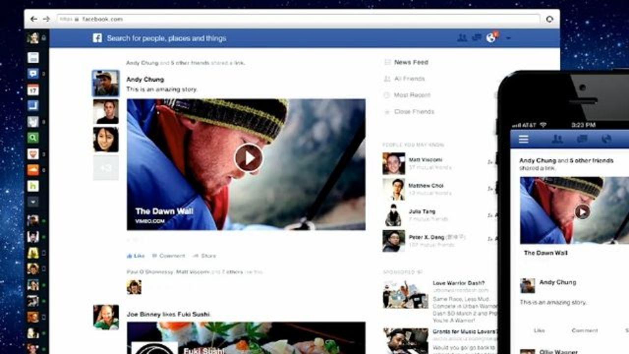 Facebookが変わります! ぐっと見やすく、美しく