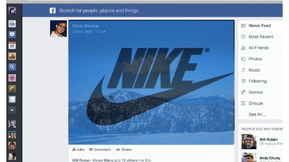 Facebookのデザイン変更、キレイになっただけじゃない