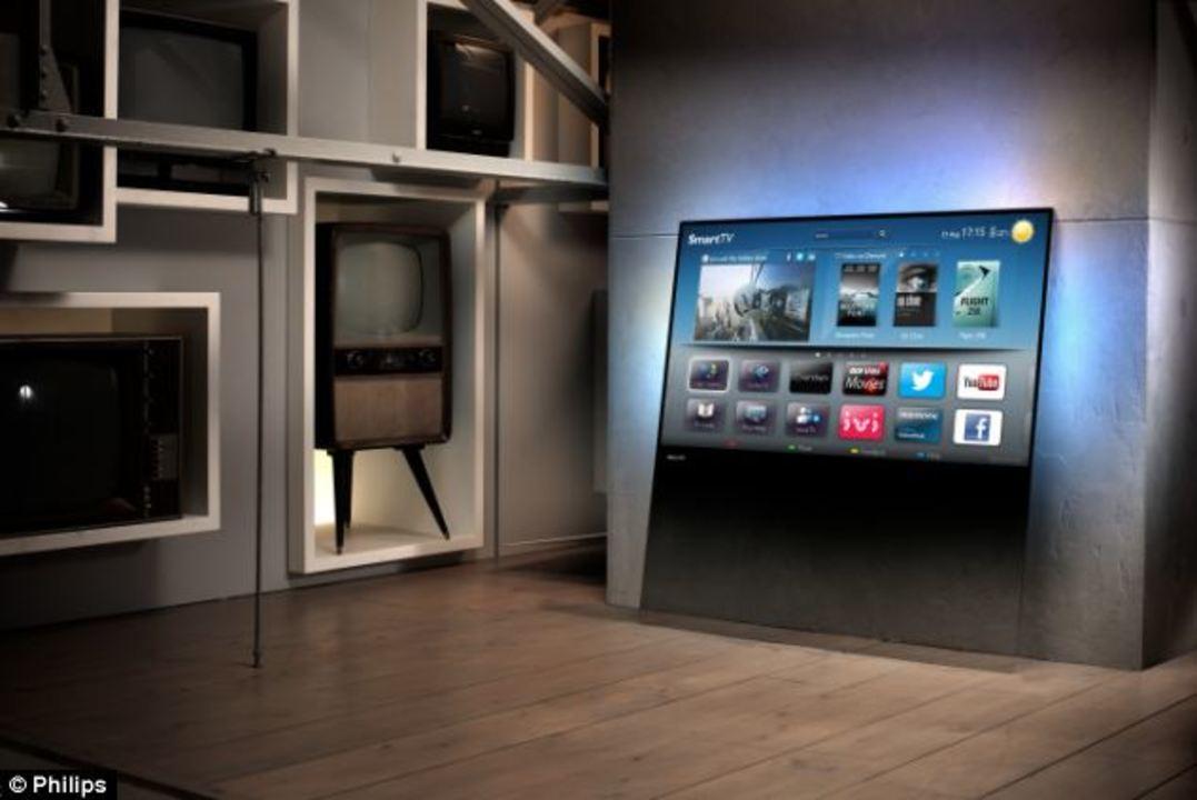フィリップスから発売、ガラス板のようなテレビ。