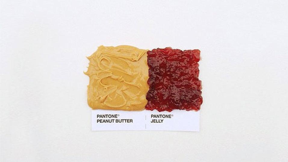 食べ物パントンで、色チェック