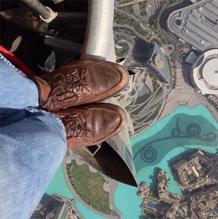 高所恐怖症の人観覧注意、世界1高い高層ビル「ブルジュ・ハリファ」からInstagramで撮影した写真が話題に