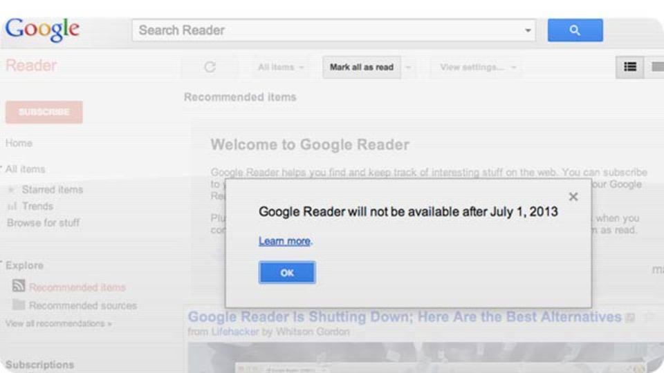 グーグルリーダーはなぜ無くなるのか、その裏事情